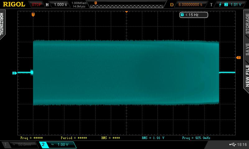 Měření na sluchátkovém výstupu mixu