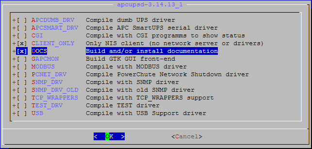 FreeBSD apcupsd port confi